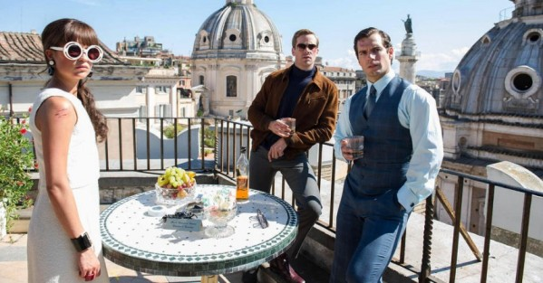 "Napoleon Solo (Henry Cavill) and Illya Kuryakin (Armie Hammer) are forced to team up alongside Gabrielle Teller (Alicia Vikander) in Guy Ritchie's adaptation of the 1960s TV show ""The Man from U.N.C.L.E."""